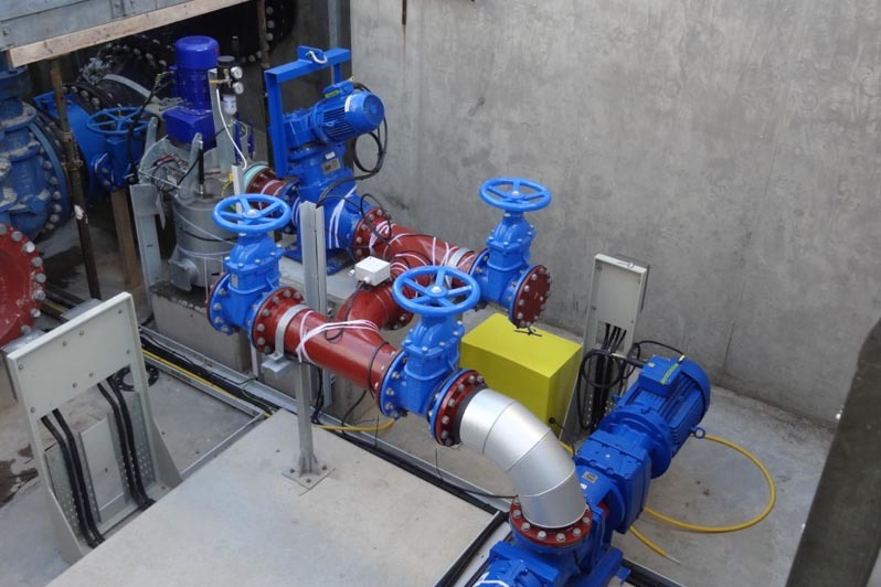 Agrivert sewage treatment plant internal pumps and valves